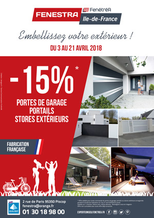 Offre promotionnelle sur les portes de garage, les portails et les stores - Val d'Oise (95)